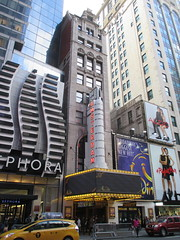 New Amsterdam Theatre Marquee 42nd street 2846