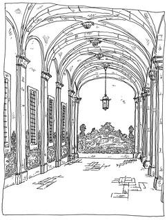 Portugal, Lisbon, San Vicente de Fora, Azulejos