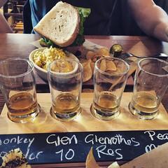 Scotch flight at Whiskey Cake #SanAntonio #whiskeycake #scotch #scotchflight #monkeyshoulder #glenrothes #peetmonster #family #friends #travel #exploring #adventure #photography #BellusPhoto.com