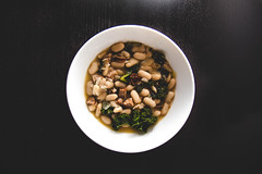 White Bean, Kale, and Andouille Soup