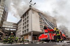 Feuer ehem. R+V-Hochhaus/Mövenpick-Gebäude Kureck 20.01.15