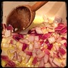 #CucinaDelloZio #Homemade #LentilSoup #ZuppaDiLenticchie - sauté #onions & #garlic