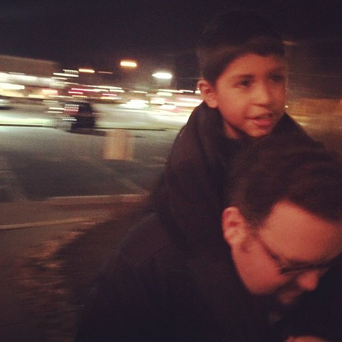 Evening piggy back ride. I love these two dudes so much it makes my stomach hurt. #latergram