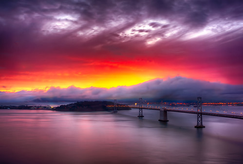 sanfrancisco sunrise baybridge sfbaybridge