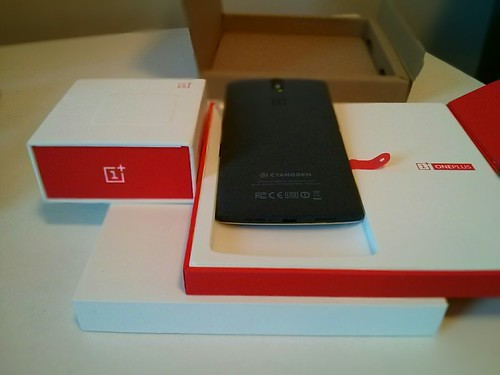 OnePlus One phone unpacking