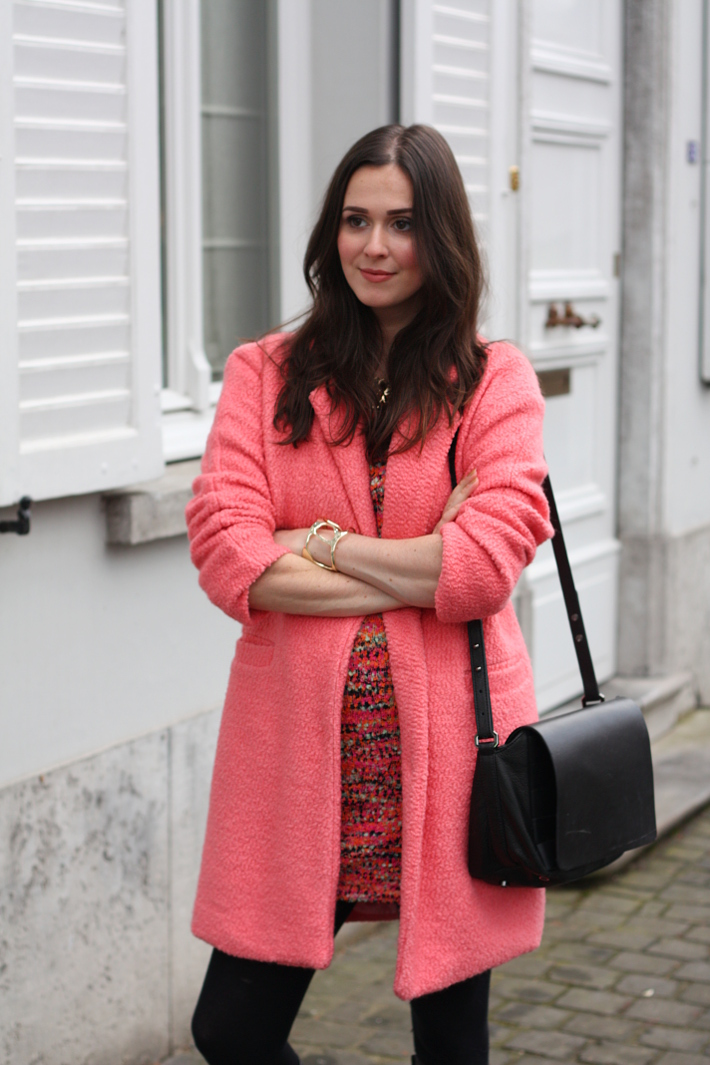 pink coat, and other stories handbag