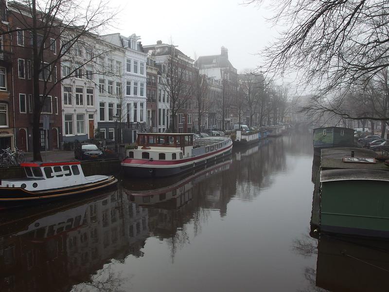 Fog @ Canal @ Amsterdam