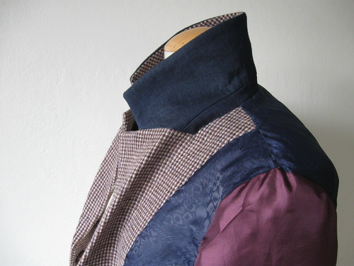 Saler jacket inside collar and lining