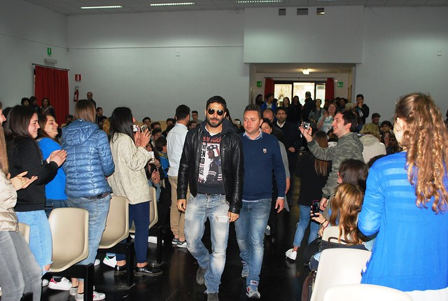 L'arrivo di Marco Bocci all'ITET Montale