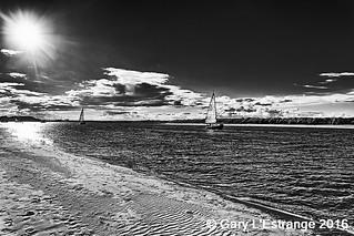 Sunset and sailing Malahide Estuary