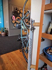 Inside the new headquarters for the Cascade Bicycle Club in Seattle. Note door handle made from bike components.