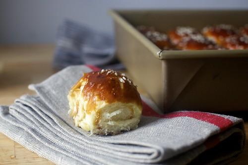 pretzel parker house rolls