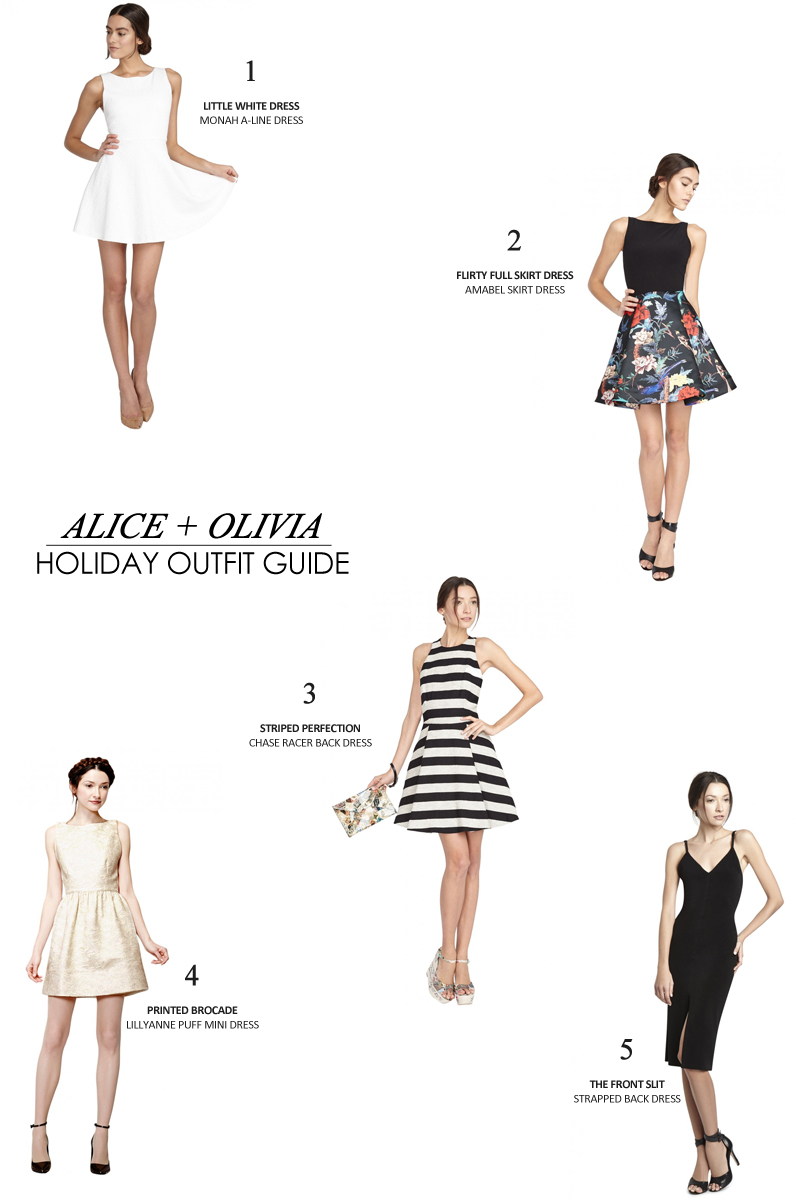 Holiday Outfit Guide - Alice Olivia