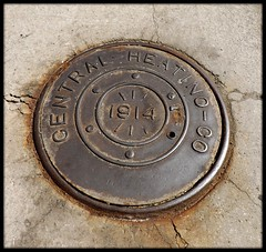 Utility Cover: Central Heating Company, Dated 1914--Detroit MI