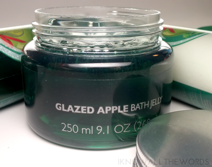 the body shop glaze apple bath jelly  (2)