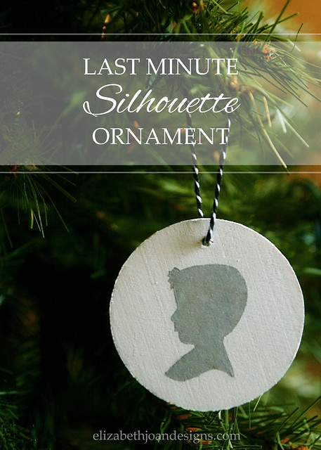 Last Minute Silhouette Ornament