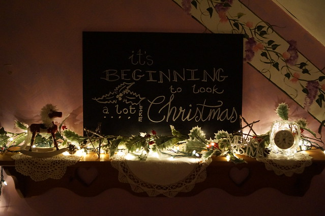 It's Beginning to Look A Lot Like Christmas...our annual Christmas decorating tradition--via Seven Sisters Blog