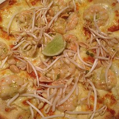 Thai Prawn Pizza.
