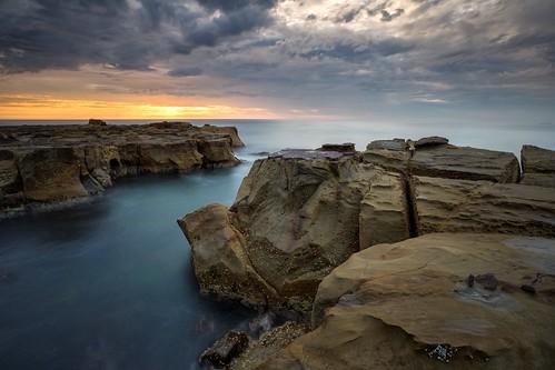 longexposure seascape sunrise australia