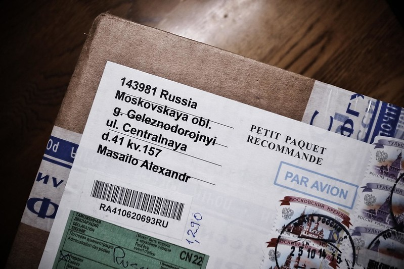 a parcel from Russia