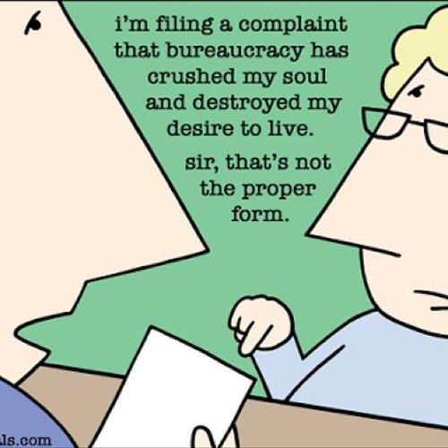 bureaucracy :-) #jboye14