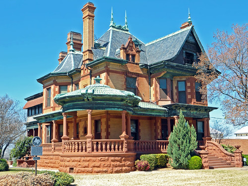 house architecture texas victorian porch historical historicalmarker chimneys fortworth slateroof queenannestyle roofcresting