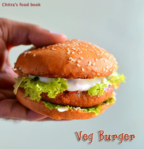 Veg Burger Recipe Mc Donald S Style Burger Patty Recipe Chitra S Food Book