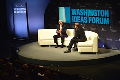 U.S. Secretary of State John Kerry participates in the sixth annual Washington Ideas Forum presented by the Aspen Institute and The Atlantic at the Harman Center for the Arts in Washington, D.C., on October 30, 2014. [State Department photo/ Public Domain]