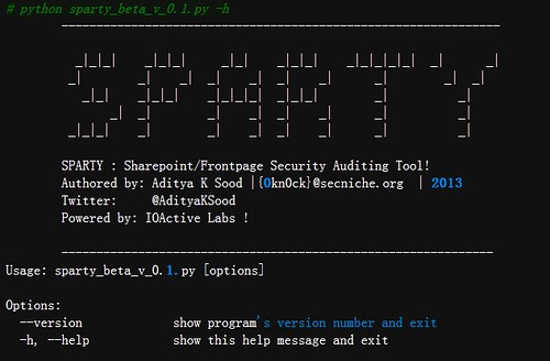 Sparty - MS Sharepoint and Frontpage Auditing Tool