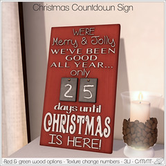 Alouette -  Christmas Countdown Sign