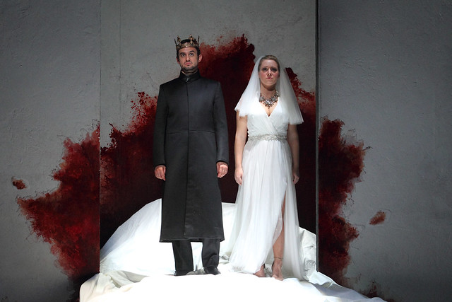 Franco Fagioli as Idamante and Sophie Bevan as Ilia in Martin Kušej's production of Idomeneo © ROH.Catherine Ashmore 2014