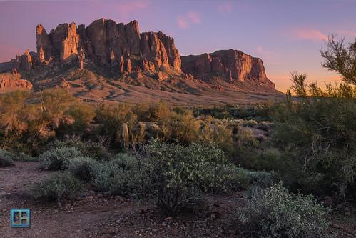 sunset arizona mountain southwest landscape desert superstitions goldfield superstitionmountain lostdutchmanstatepark jhaskellus jhaskell jackhaskell jackhaskellphotography