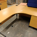 Curved office desk and pedestal