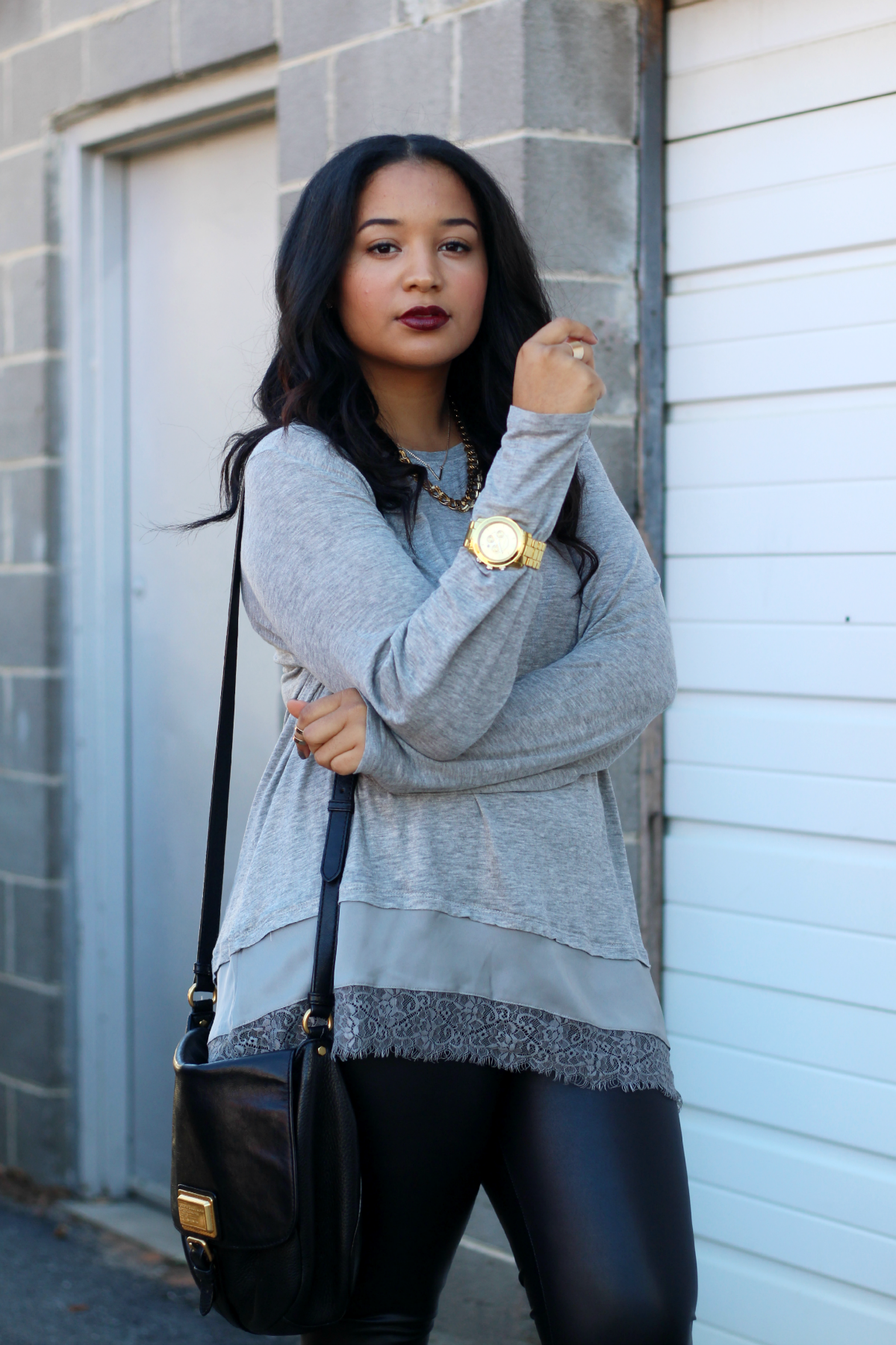 Gray + Black Fall Outfit