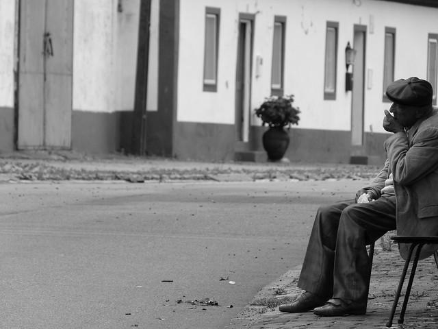 Anciano en la localidad de Comporta (Costa del Alentejo, Portugal)