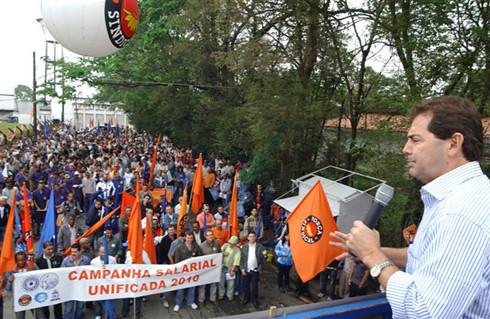 Ato em Mogi das Cruzes - Campanha Salarial 2010