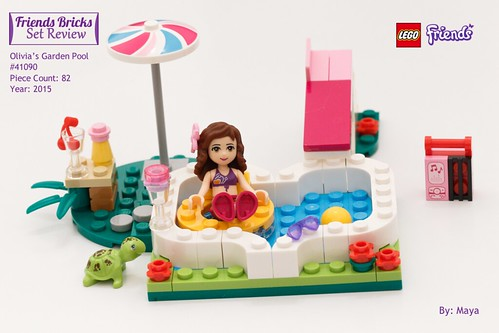 Heartlake times review 41090 olivia 39 s garden pool for Lego friends olivia s garden pool 41090