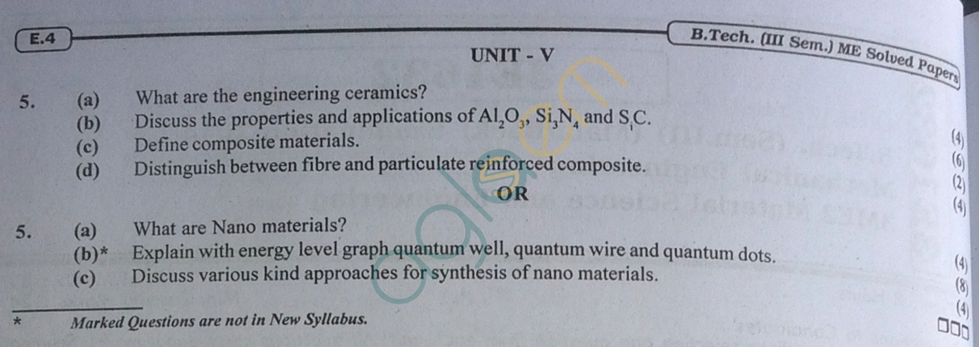 RTU: Question Papers 2014 - 3 Semester - ME - 3E1632