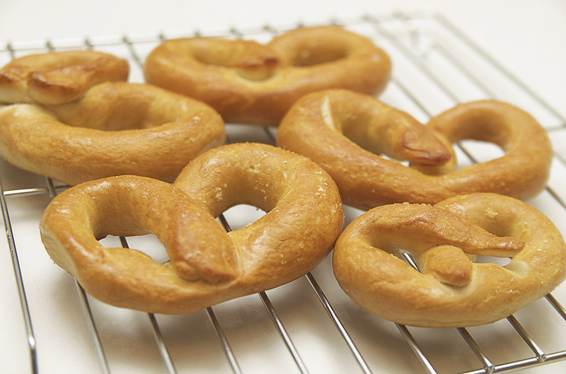 recipe: homemade soft pretzels.