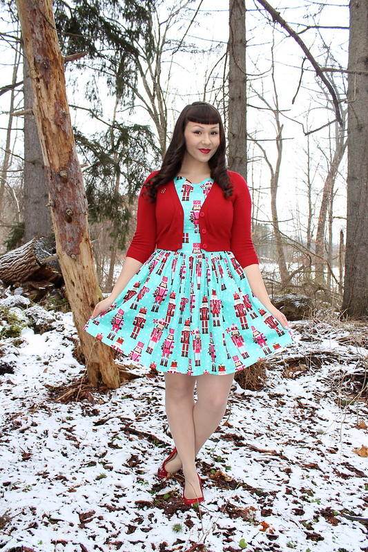 nutcracker print dress