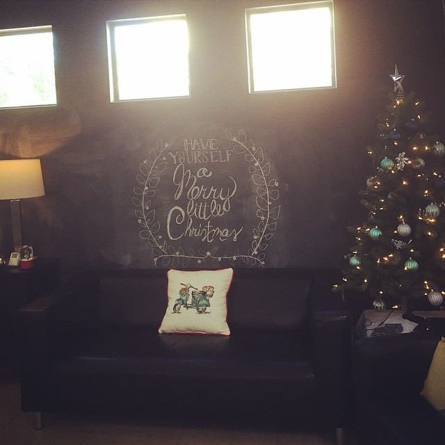 Chalkboard wall is ready for the holidays! by bartlewife
