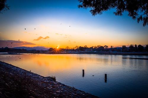 japan sunrise river kyoto raw 京都 gr 嵐山 ricohgr lightroom grd 初日