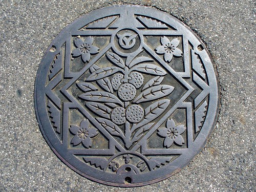 Kamitonda Wakayama, manhole cover 2 (和歌山県上富田町のマンホール2)