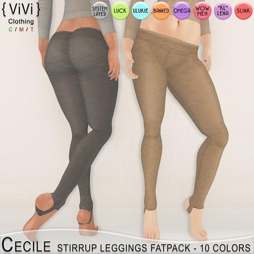 Cecile Stirrup Leggings FREE FATPACK