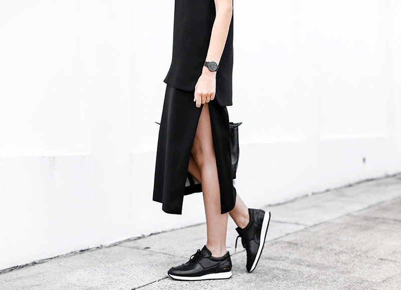 MODERN-LEGACY-fashion-blog-sport-luxe-street-style-monochrome-ellery-common-projects-split-skirt