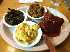 meat & three plate from Brenda's Meat &am…