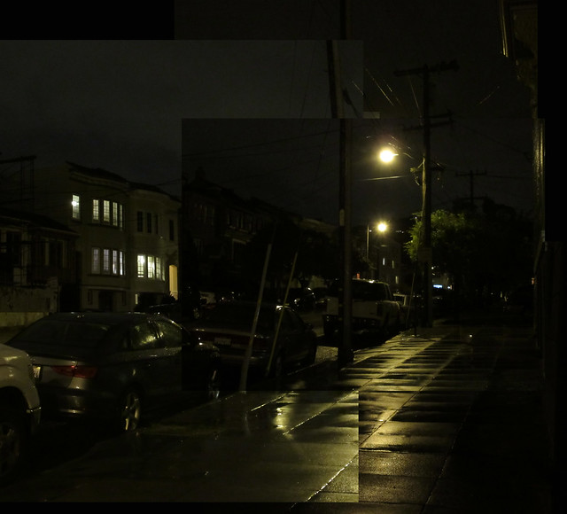 Nighttime and rain in The Sunset, San Francisco (2015)