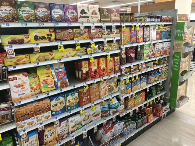 Gluten-free section at Rite-Aid in Portland