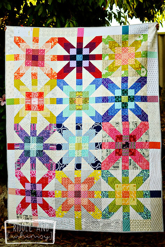 Riddle and {Whimsy} Supernova (front) Joanna- Finished Quilt Entry (single)