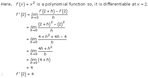 RD Sharma Class 12 Solutions Chapter 10 Differentiability Ex 10.2 Q1